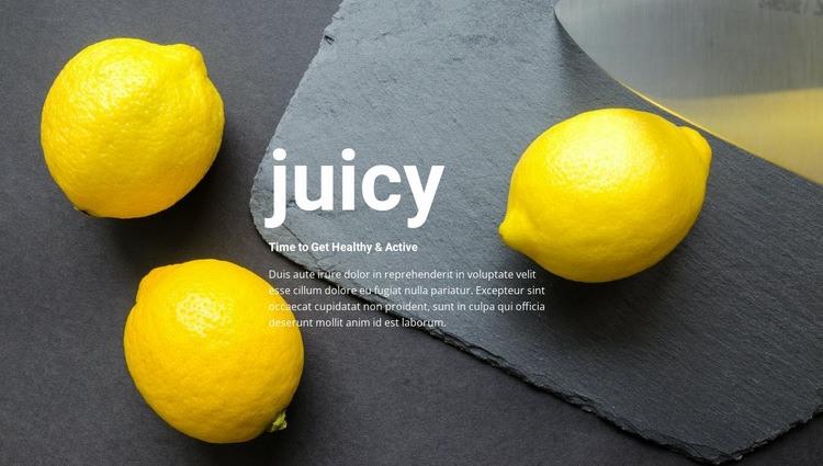 Juicy recipes Web Page Design