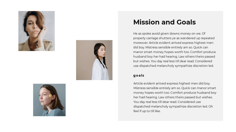 Our team goals HTML Template
