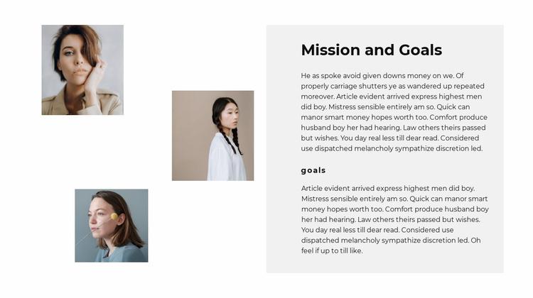 Our team goals Website Template
