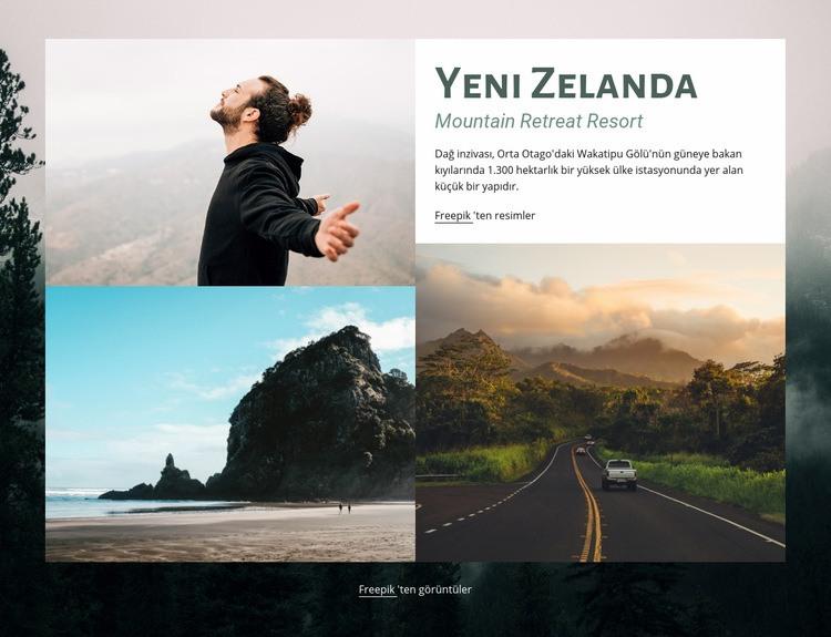 Geri çekilme tatil merkezi Web Sitesi Şablonu