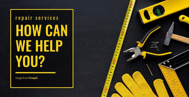 House repair services WordPress Website