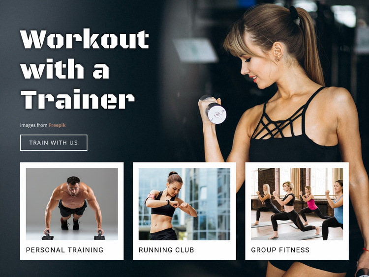 Healthy livestyle and sport  Website Builder