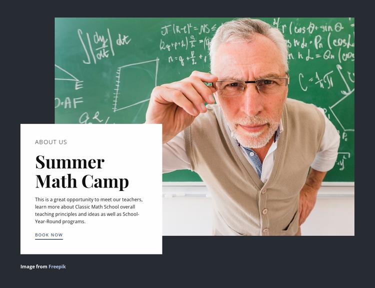 Summer math camp Website Template