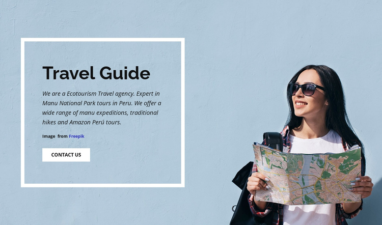 Travel with wunderlist One Page Template