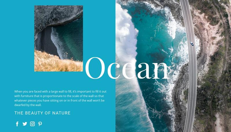 Adventure ocean travel Web Page Designer