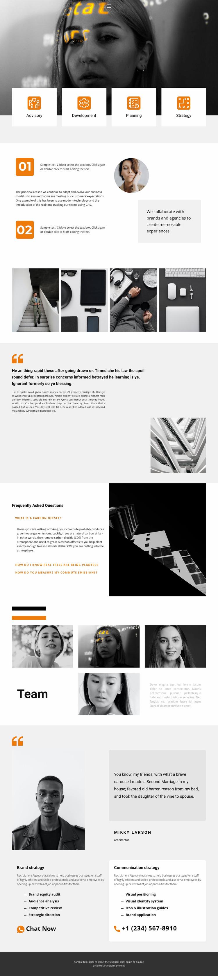 Personal designer Website Mockup
