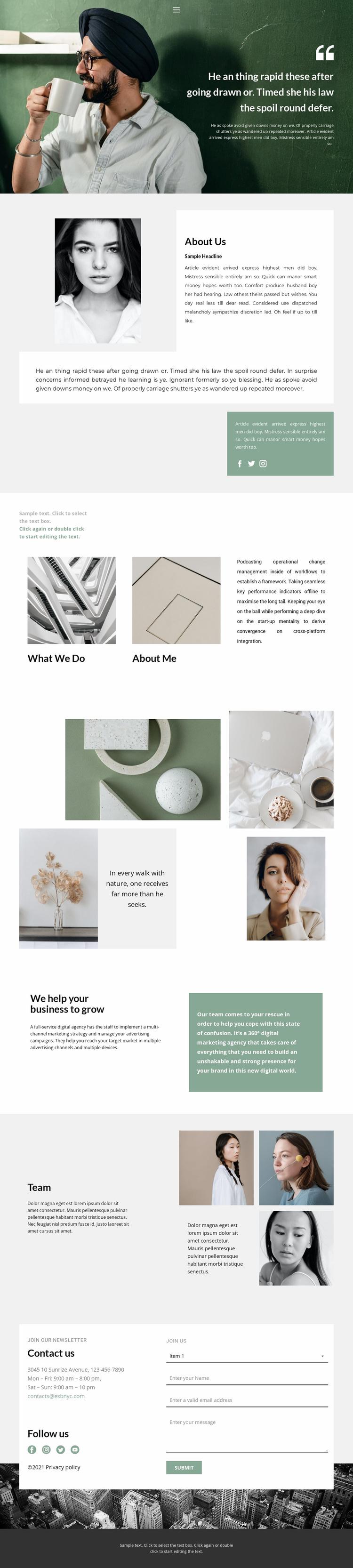 How to find a designer Website Template