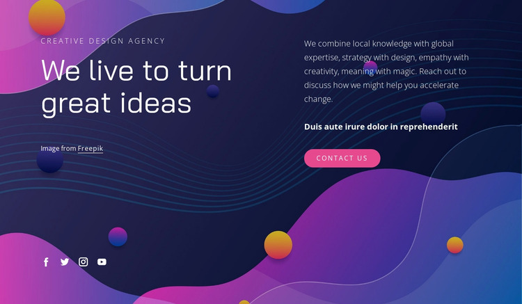 We combine meaning with magic Website Mockup