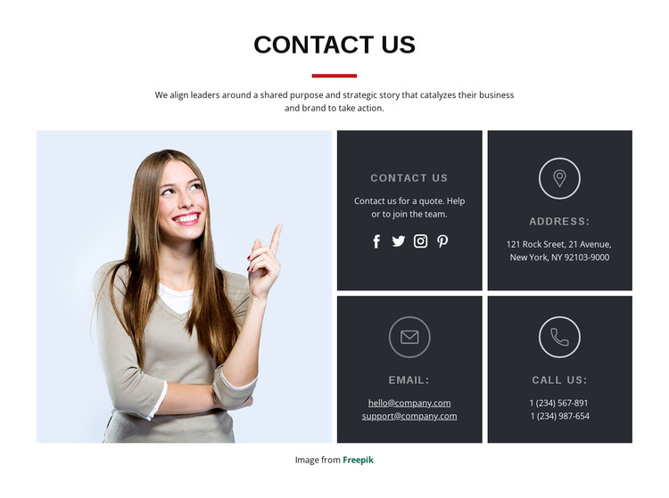 Start a project with us HTML5 Template