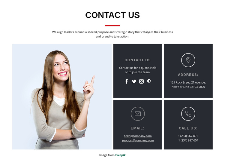 Start a project with us One Page Template