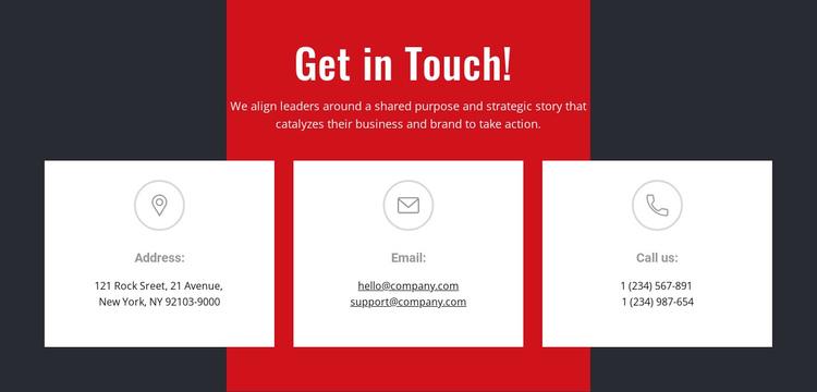 Contact information Website Builder Software