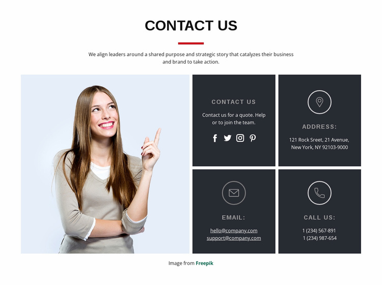 Start a project with us Website Template