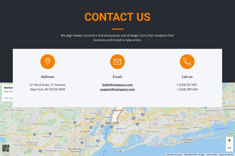 Address and email WordPress Theme