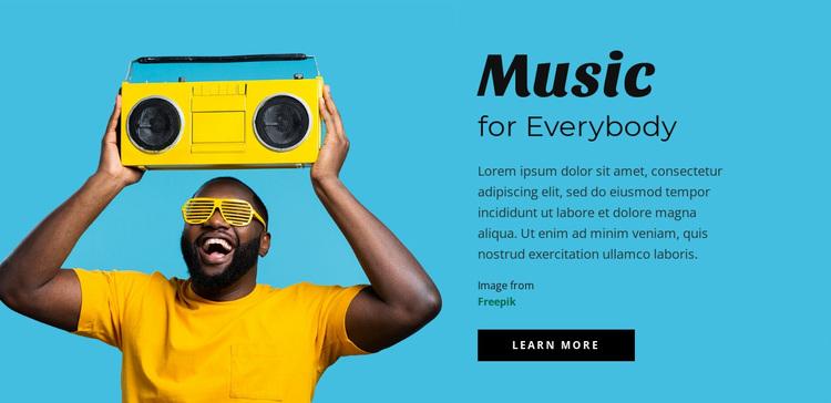 Music for everybody Website Design