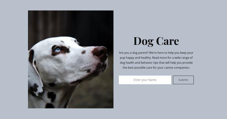 Dog care Website Template