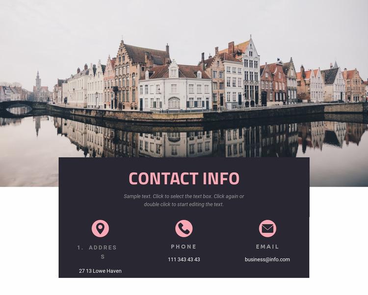 Contact information WordPress Website Builder