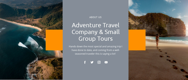 Travel group tours One Page Template