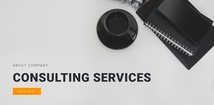 Consulting services  WordPress Template