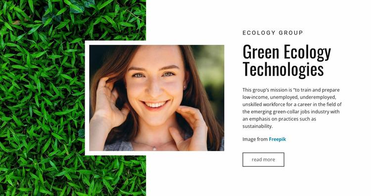 Green ecology WordPress Website Builder