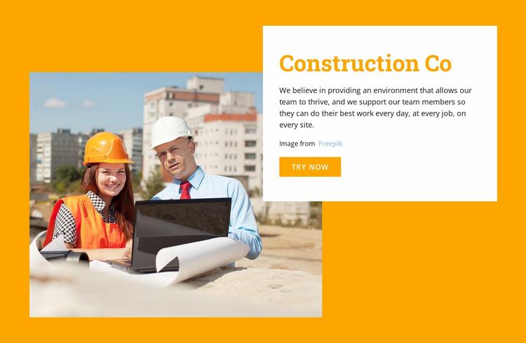 Real estate developer Website Template