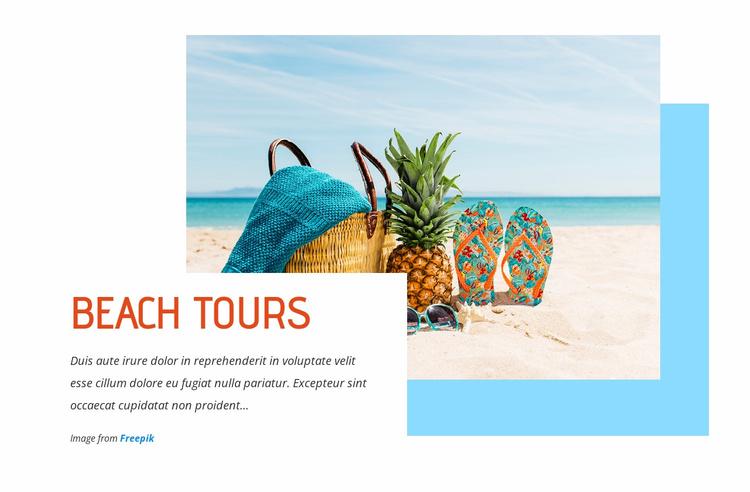 Breathtaking beach tours Website Template