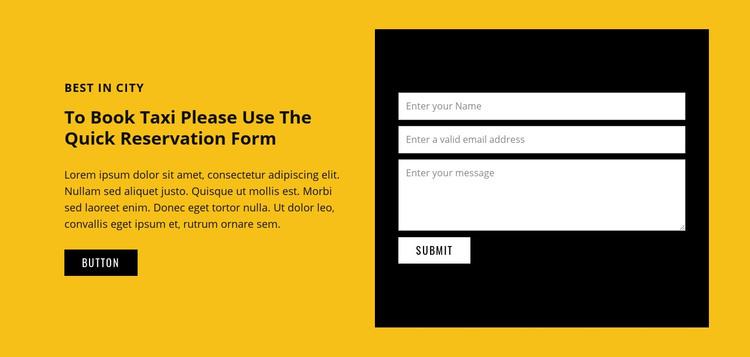 Car transportation service Homepage Design