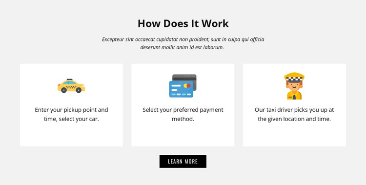 How our company work CSS Template