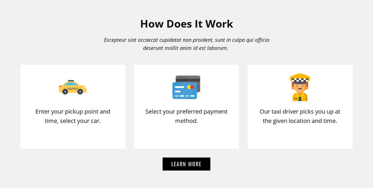 How our company work HTML5 Template