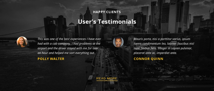 Happy customers One Page Template