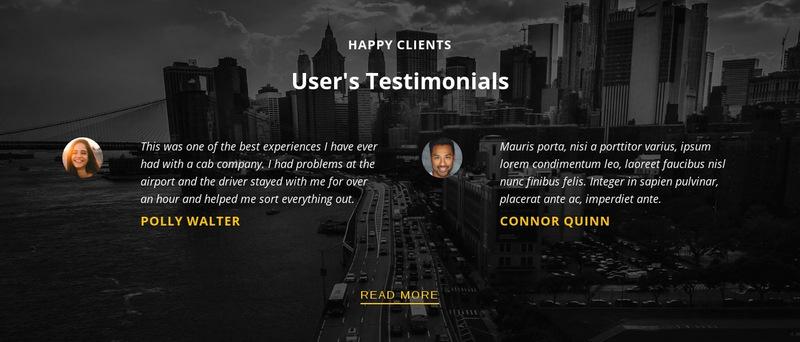 Happy customers Web Page Designer