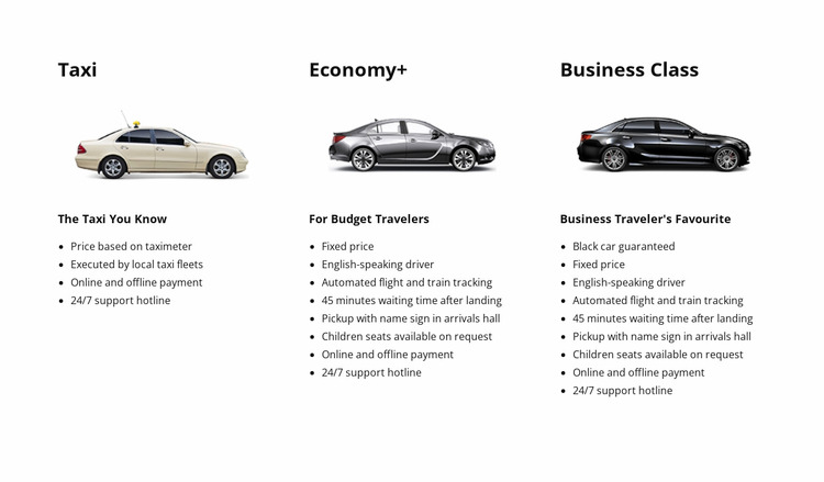 Taxi and car service WordPress Website Builder