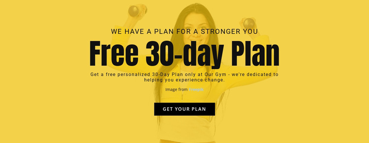 Free 30day plan HTML5 Template