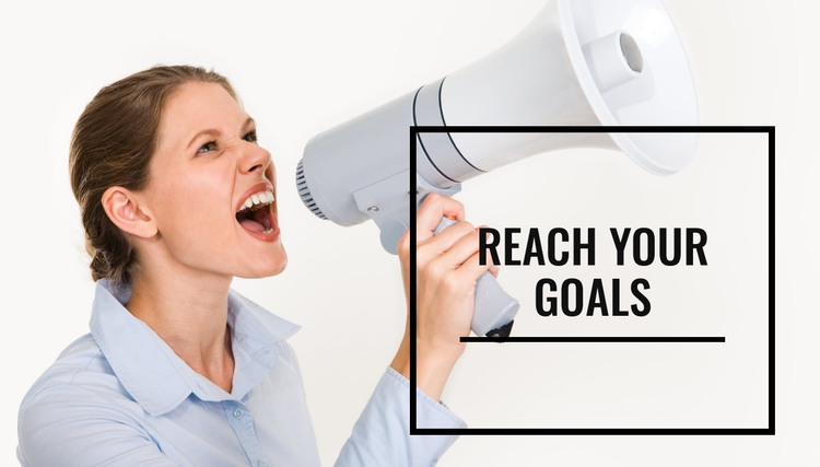 Reach your goals HTML Template
