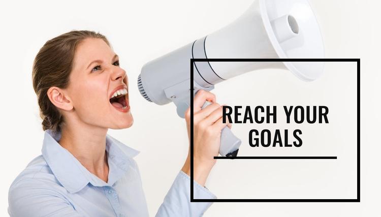 Reach your goals Website Template