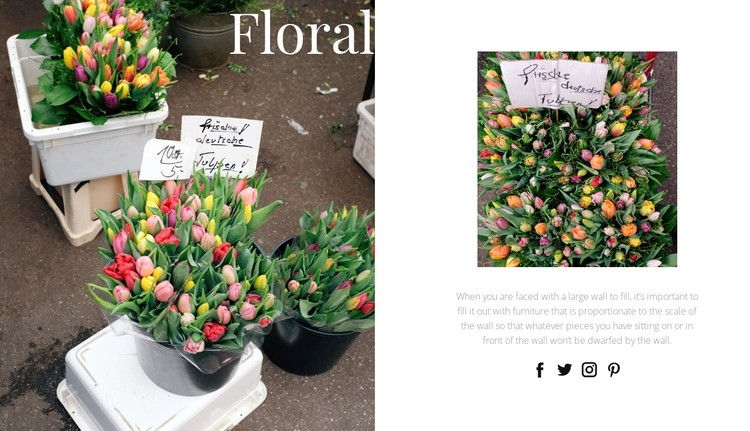 Floral art and design CSS Template
