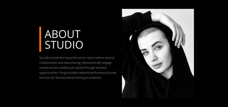 About our studio Website Builder
