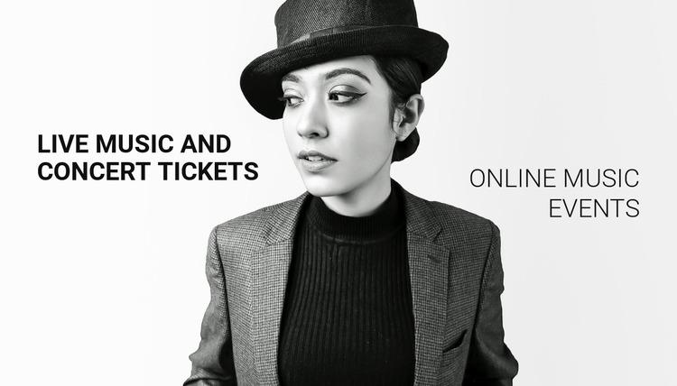 Online music events WordPress Website Builder