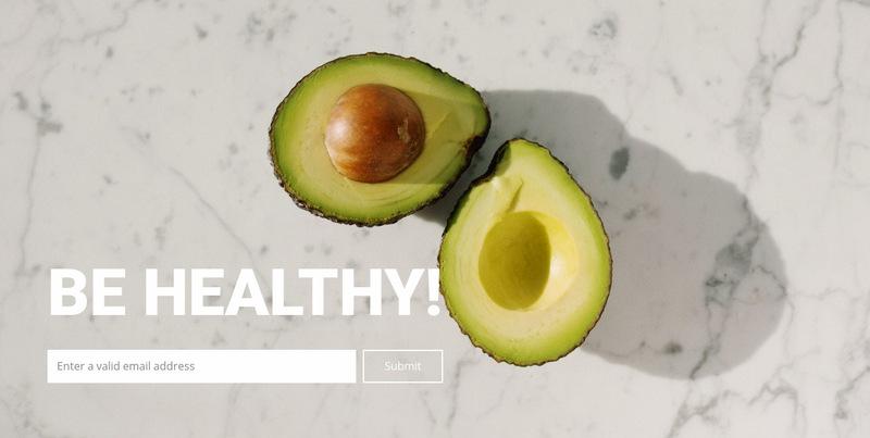 Proper nutrition for health Web Page Designer