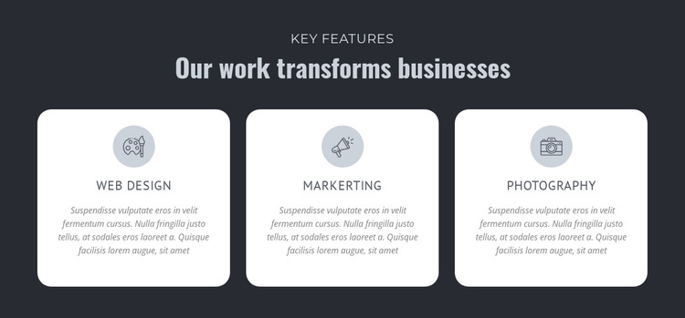 Our work transforms businesses HTML5 Template