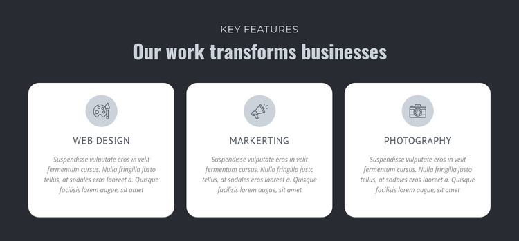 Our work transforms businesses Joomla Page Builder