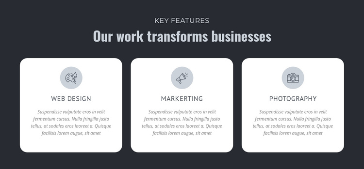 Our work transforms businesses Website Builder Software