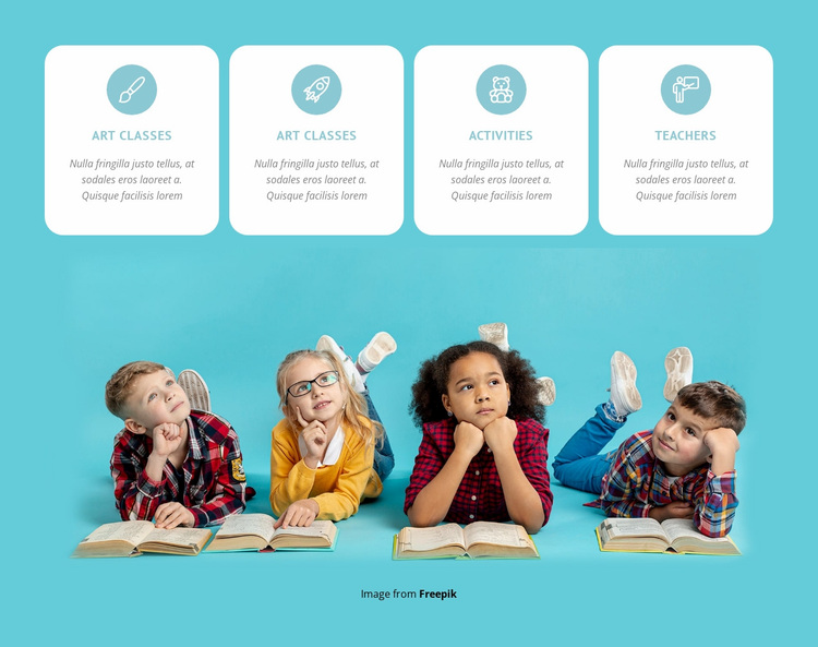 Painting, drama and singing classes Website Design