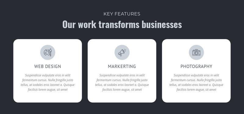 Our work transforms businesses Website Maker
