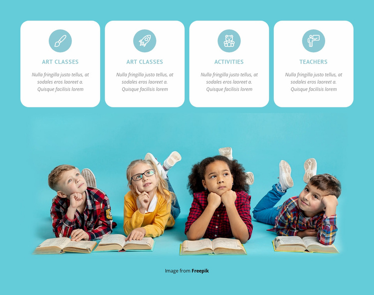 Education and care of kids  Landing Page