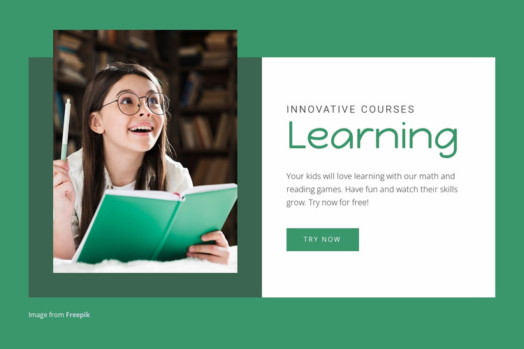 Educational courses and programmes Website Mockup