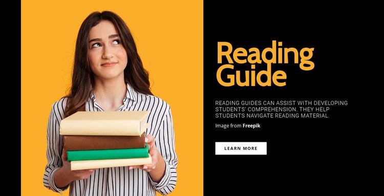 Effective reading Website Template