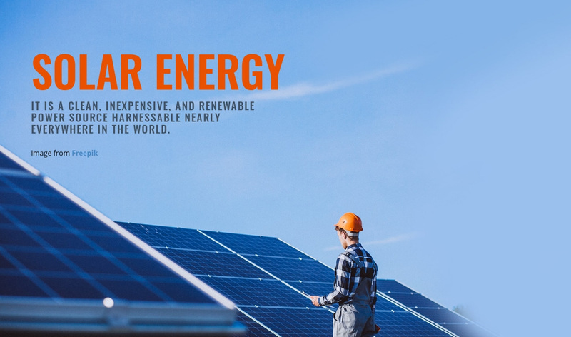 Solar energy products Web Page Design