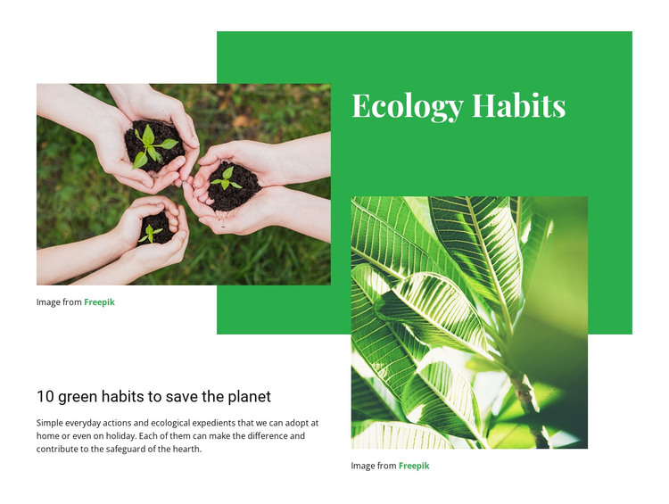 Ecology habits HTML Template