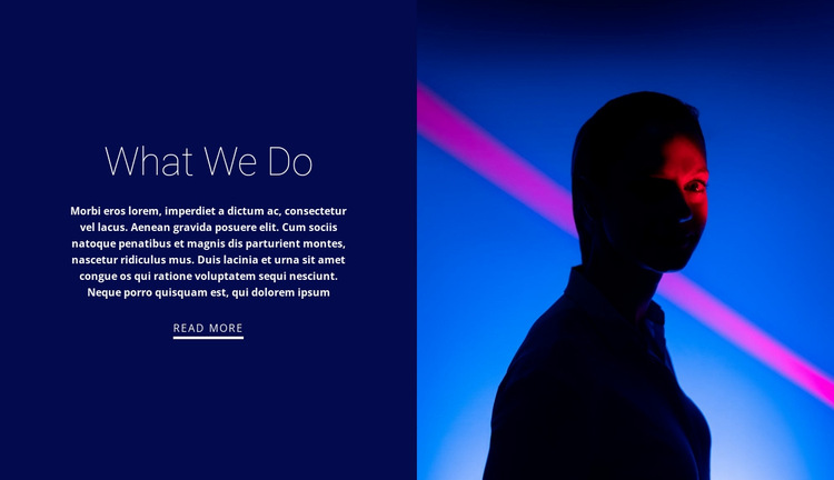 What we offer HTML5 Template