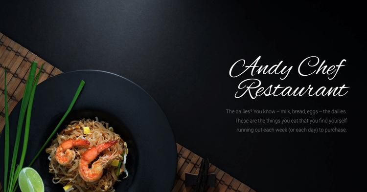 Chef restaurant food Website Builder